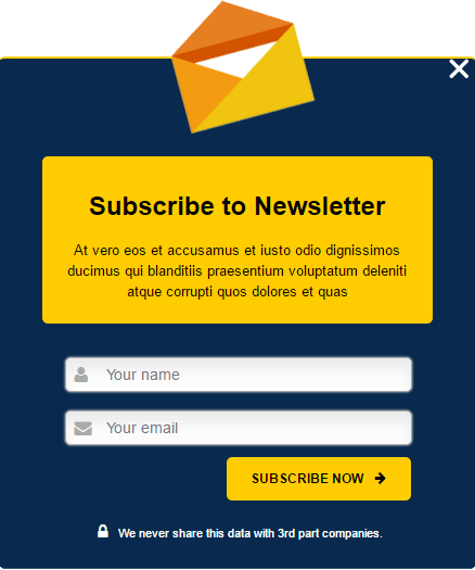 how to create a mailchimp signup popup with no subscribers